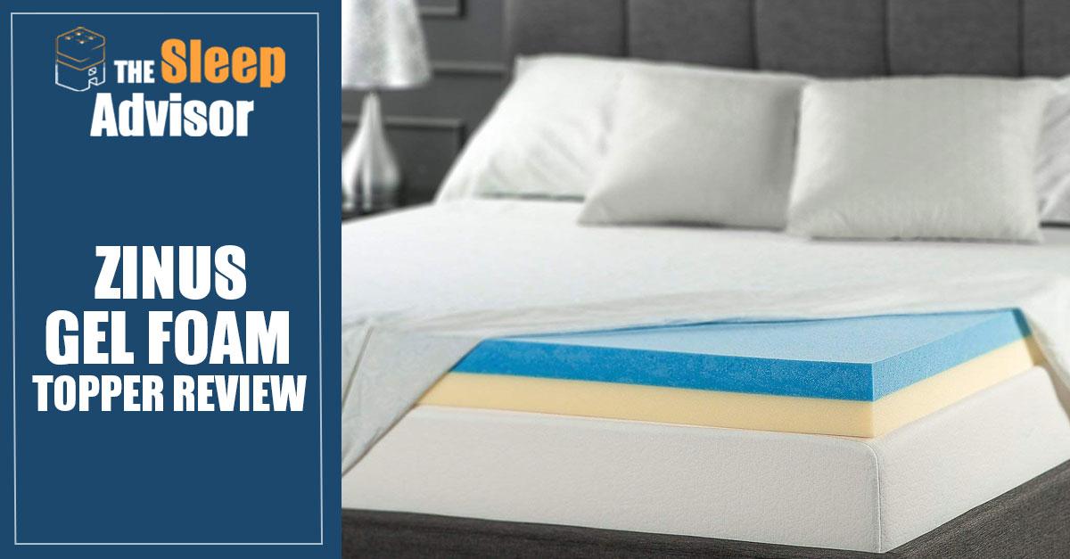 Zinus Gel Foam Topper Review Good Cooling Properties For