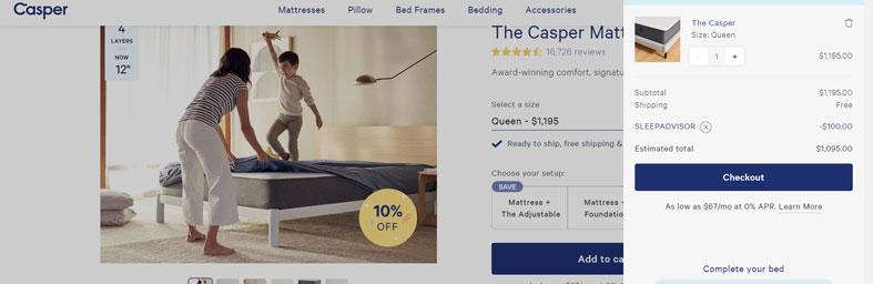 updated casper coupon