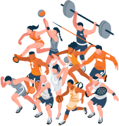 College Athletes Illustration