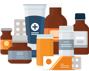 Different Kind Of Medications Illustration