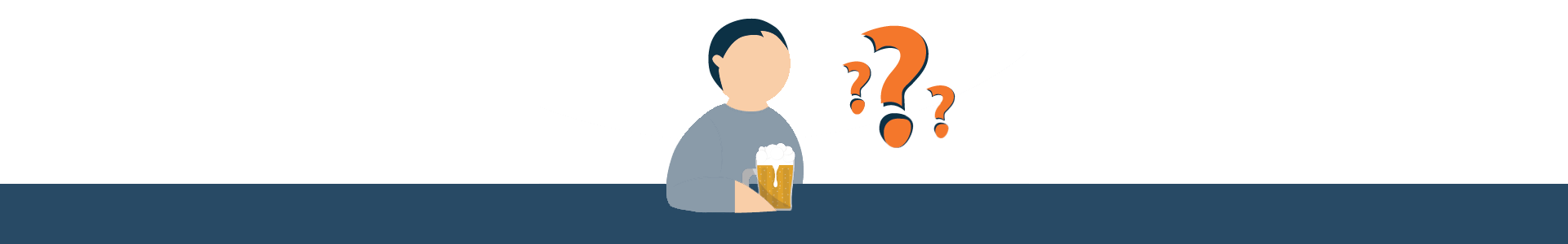 Illustration of Drinking Draft Beer