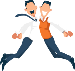 Illustration of Happy Employees