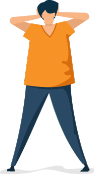 Illustration of Man Having a Panic Attack