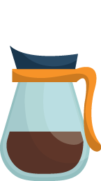 Illustration of a Coffee Carafe