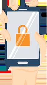 Illustration of a Locked Phone
