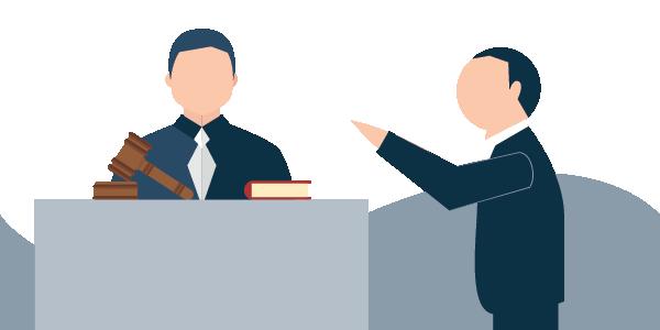 illustration of a judge