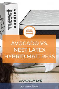 Avocado versus nest latex hybrid mattress