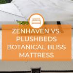 Zenhaven Vs. PlushBeds Botanical Bliss Mattress