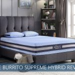 our in depth blue burrito hybrid bed
