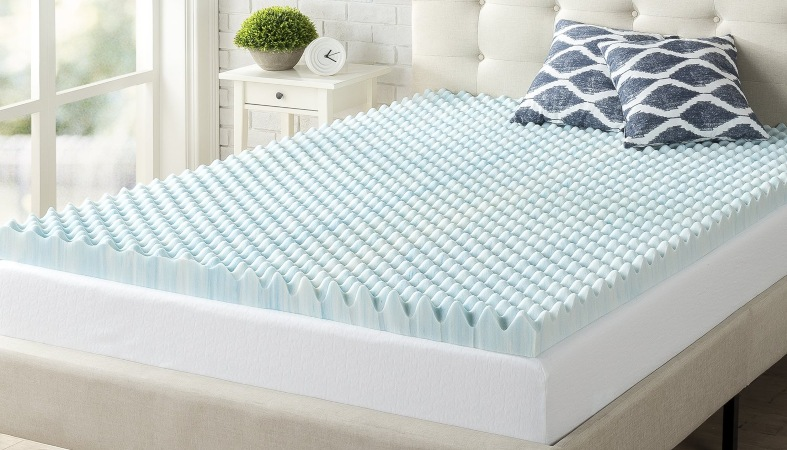 product image of a convoluted mattress topper