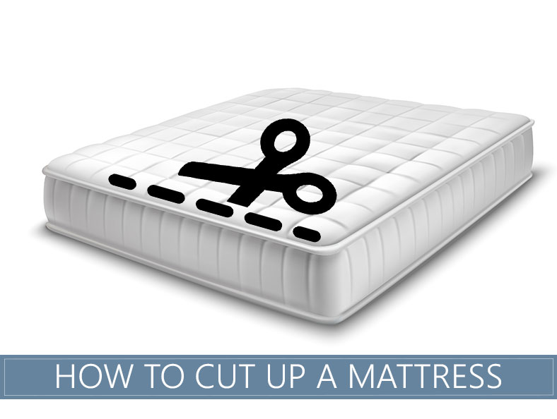 steps of how to cut your mattress up