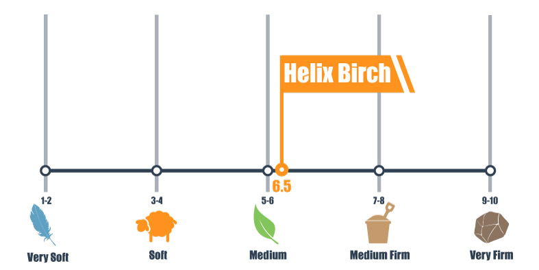 firmness scale for helix birch mattress