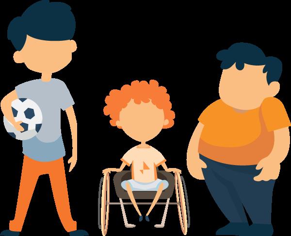 Illustration of Different Kids