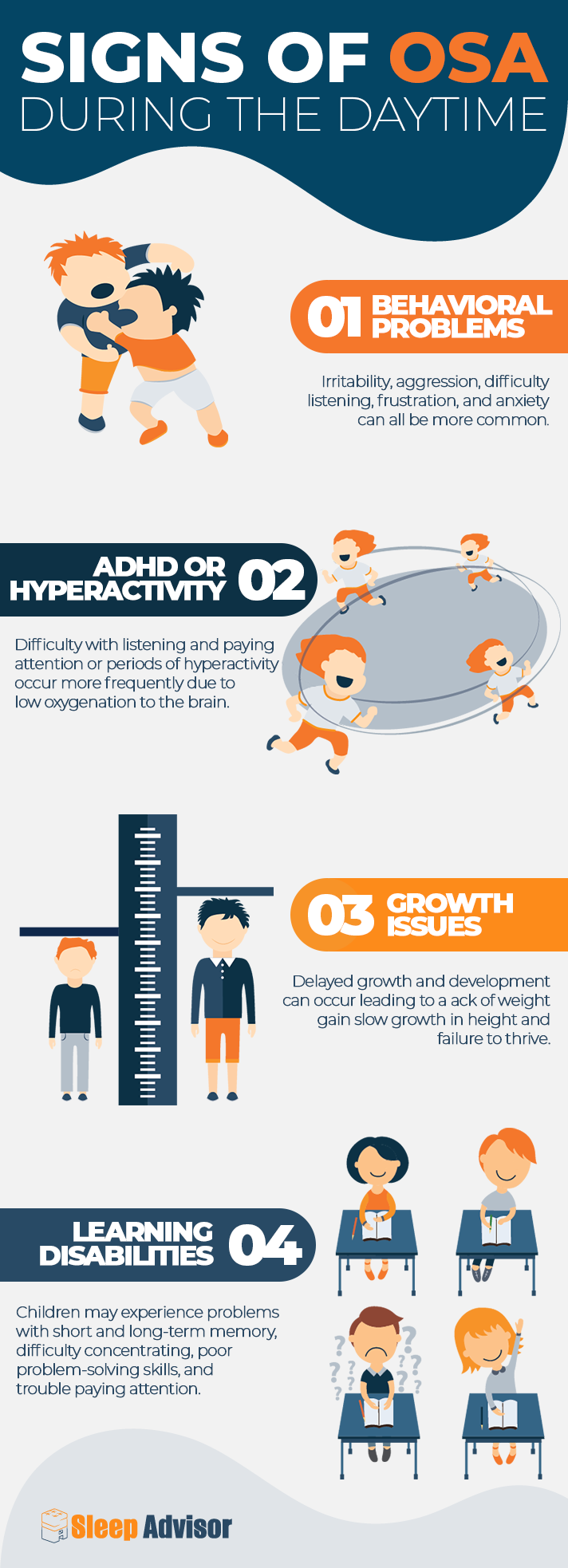 Signs of OSA During the Daytime Infographic