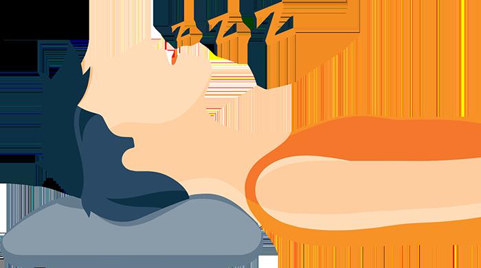 Snoring While Sleeping Illustration