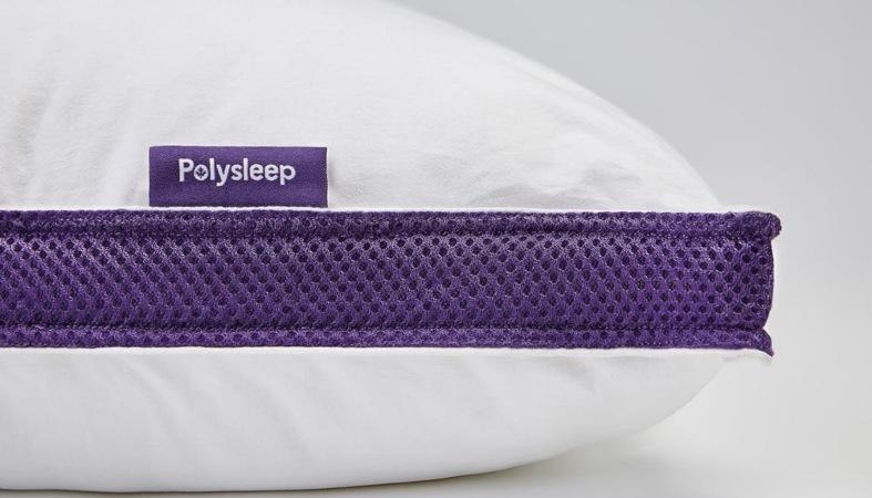 close up image of the polysleep pillow
