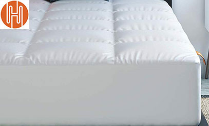 product image Hospitology Products Microfiber Quilted Mattress Pad