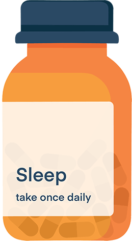 Illustration of A Prescription Bottle of Sleep Pills