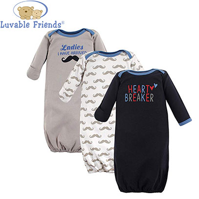 luvable friends three pack baby sleep sack product image