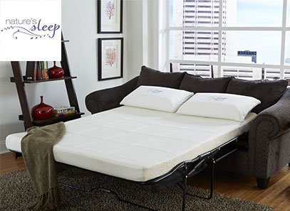product image of nature's sleep sofa bed mattress