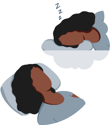 A woman Lying Awaken in a Bed wishing She Is Being Asleep Illustration