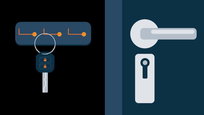 Car Keys Hanging on a Hook Illustration