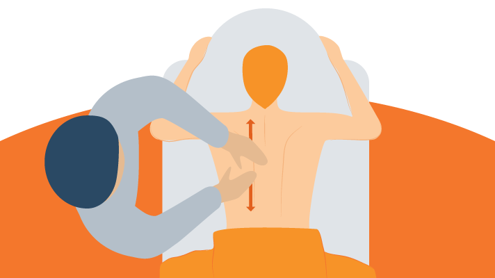 Illustration of Massage-Techniques for Improving Circulation