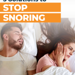 Stop snoring with a mouthpiece