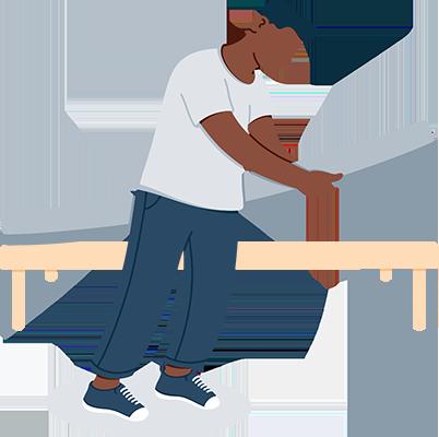 A Man Setting Mattress on Bed Illustration