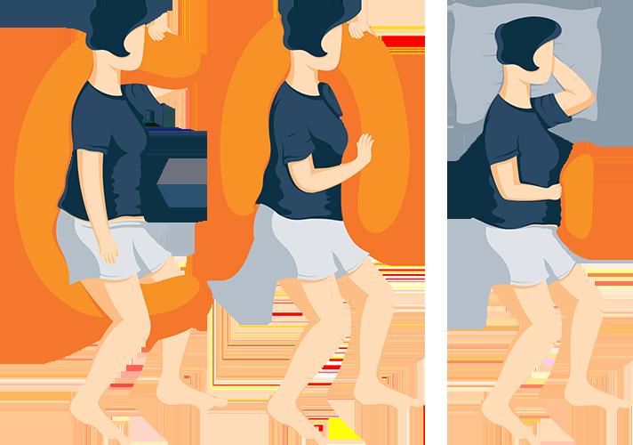 Illustration of Pregnancy Pillows