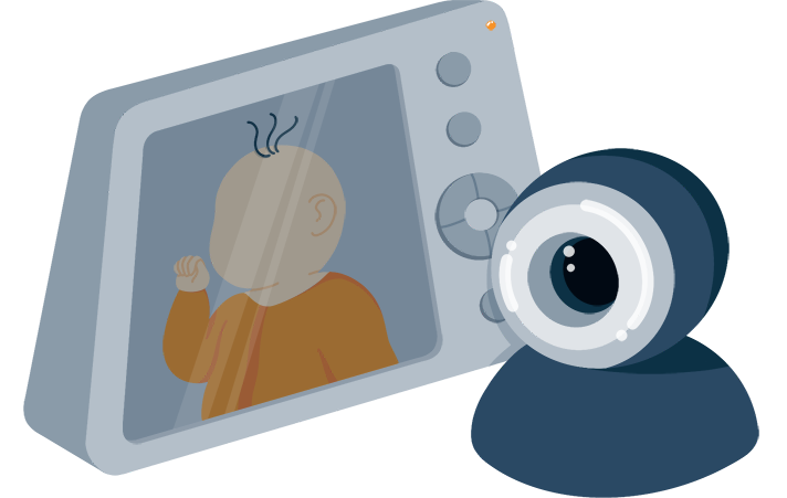 Illustration of a Baby Monitor