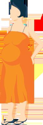 Pregnant Lady Having Backache Illustration