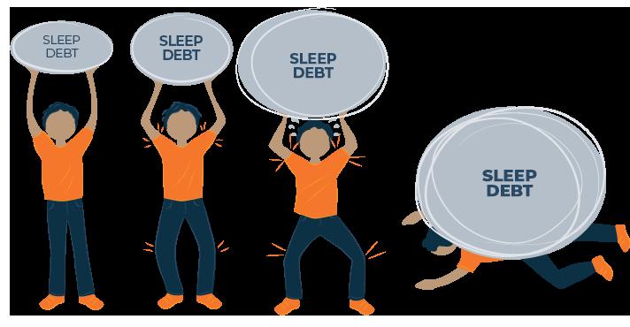 Sleep Debt Rock On Boys Back Illustration