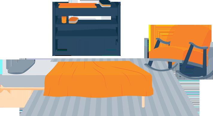 Toddler Bedroom Illustration