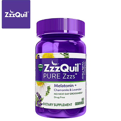 ZzzQuil product image of sleeping pills