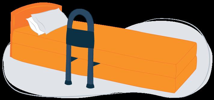 illustration of bed rails