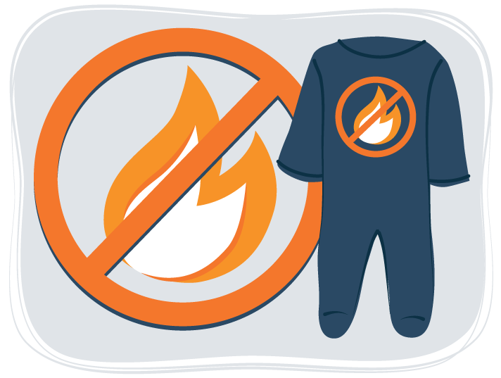 illustration of flame resistant pajamas