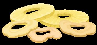 Baked veggie chips Illustration