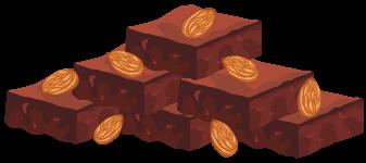 Cinnamon chickpea blondies Illustration