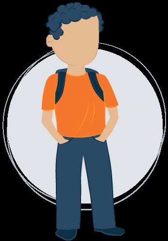Illustration of School-age Kid