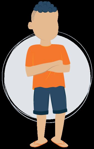 Illustration of Teen Boy