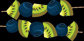 Kiwi kabobs Illustration
