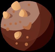 Tart cherry bites Illustration