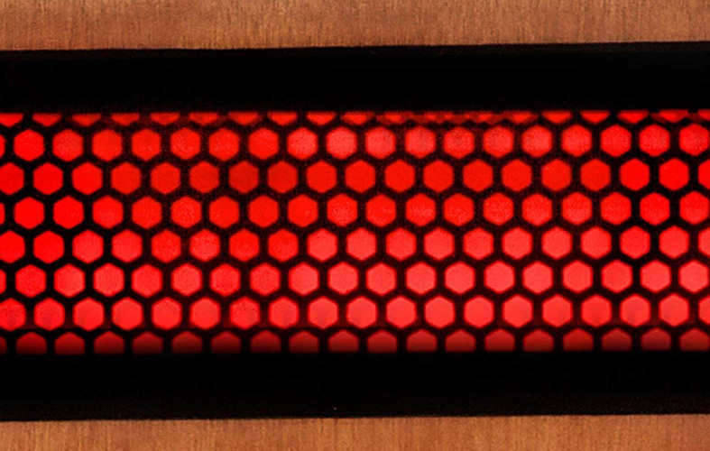 a close up image of an infrared heater