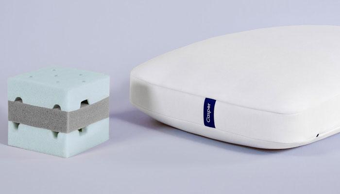 casper foam pillow structure