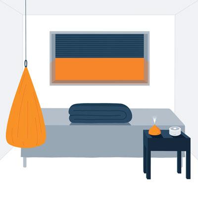 Sensory friendly kids bedroom