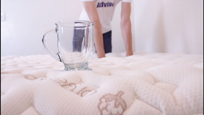 motion-isolation-test-of-loom-and-leaf-mattress