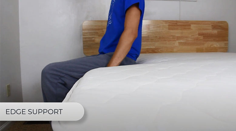 edge support test of the winkbed ecocloud mattress