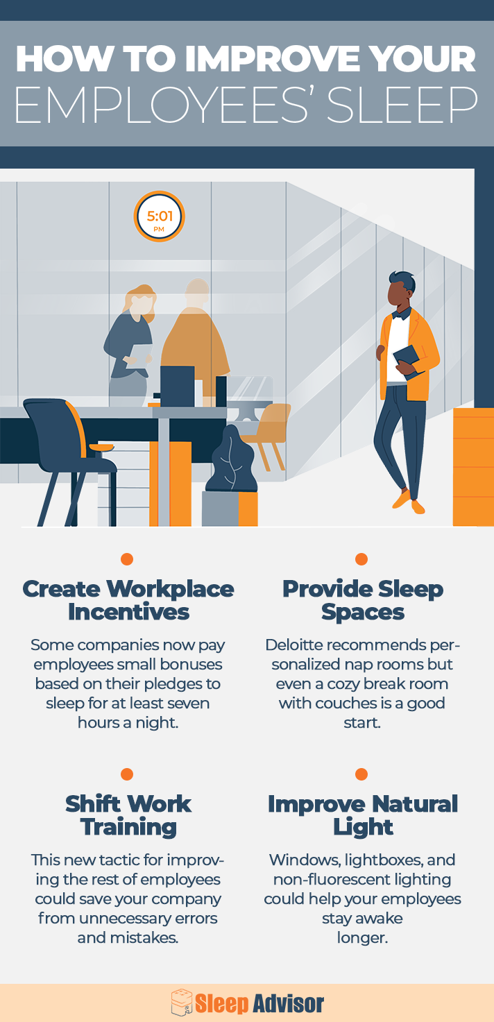 How to Improve Your Employees Sleep Infographic