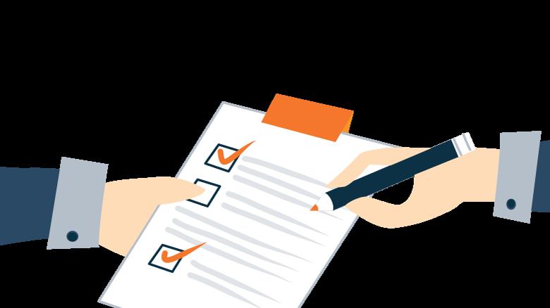 illustration of an emergency checklist